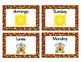 Spanish Days of the Week Concentration Matching Game