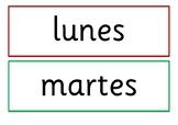 Spanish Days of the Week Display