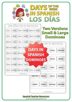Spanish Days of the Week Dominoes