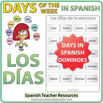 Spanish Days of the Week Dominoes