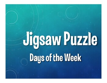 Spanish Days of the Week Jigsaw Puzzle