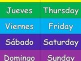 Spanish Days of the Week Matching Game