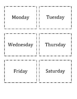 Spanish Days of the Week/Months Flashcard Match Up