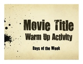 Spanish Days of the Week Movie Titles