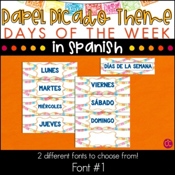 Spanish Days of the Week - Papel Picado Theme