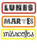 Spanish Days of the Week- Rainbow