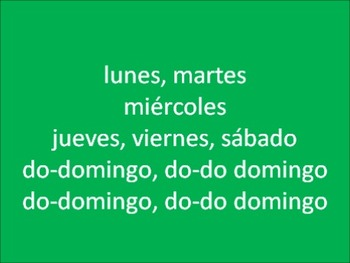 Spanish Days of the Week Rap Song