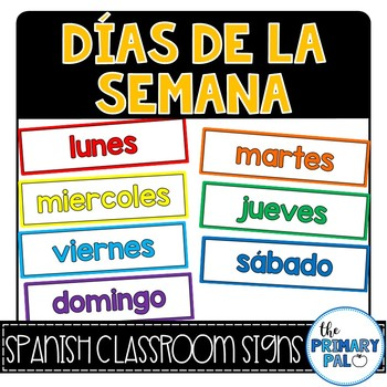 Spanish Days of the Week Signs