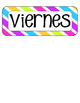 Spanish Days of the Week- Stripes
