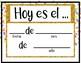 Spanish Days of the Year- Dias del Año Confetti Theme