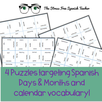 Spanish Days of the week and Months Puzzle