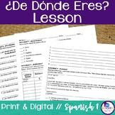 Spanish De Donde Eres Lesson