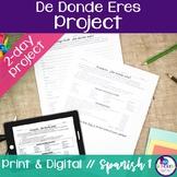 Spanish De Donde Eres Project