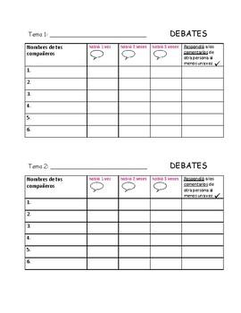 Spanish Debates