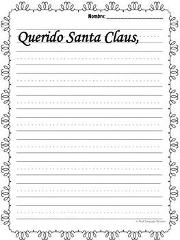 Spanish December Journal /Diario de diciembre con títulos y bancos de palabras
