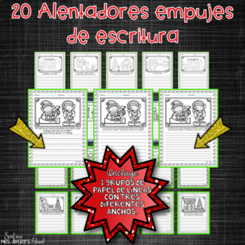 Spanish December Writing Prompts and Word Work