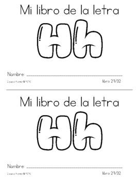 Spanish Decodable Books {Libros decodificables del alfabeto} - Book 29: Hh