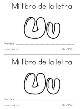 Spanish Decodable Books  {Libros decodificables del alfabeto} - Book 4: Uu