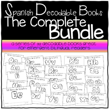 Spanish Decodable Books {Libros decodificables del alfabeto} - Complete Bundle