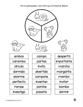 Spanish Decodable Spinners Set 4