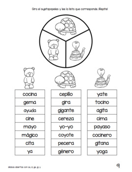 Spanish Decodable Spinners Set 2