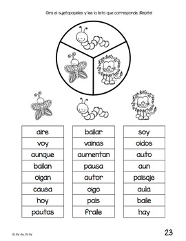 Spanish Decodable Spinners Set 5