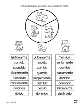 Spanish Decodable Spinners Set 6