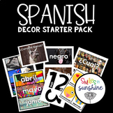 Spanish Decor Starter Pack - labels, months, emoji cards,