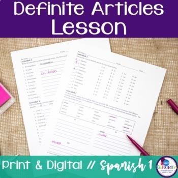 Spanish Definite Articles Lesson