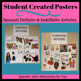 Spanish Definite & Indefinite Article Student Created Poster Project