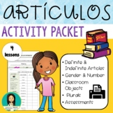 Spanish Definite & Indefinite Articles With Classroom Objects & Plurals