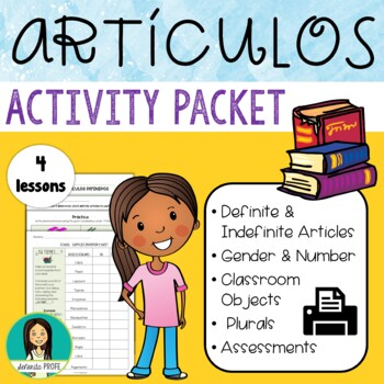 Spanish Definite & Indefinite Articles With Classroom Obje