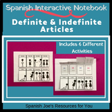 Spanish Definite & Indefinite Articles Interactive Notebook Activities