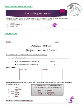 Spanish Definite and Indefinite Articles PowerPoint