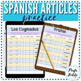 Spanish Definite and Indefinite Articles Digital Practice