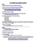 Spanish Definite and Indefinite Articles Internet Activities