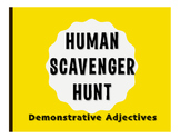 Spanish Demonstrative Adjective Human Scavenger Hunt