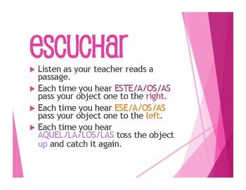 Spanish Demonstrative Adjective Tactile Activity
