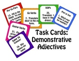 Spanish Demonstrative Adjective Task Cards