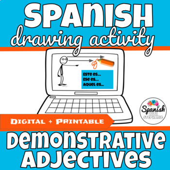 Spanish Demonstrative Adjectives Drawing Activity