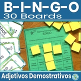 Spanish Demonstrative Adjectives Game - Spanish Game Bingo 1