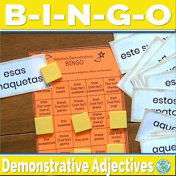 Spanish Demonstrative Adjectives Game - Spanish Game Bingo Bingo 2