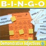 Spanish Demonstrative Adjectives Game - Spanish Game Bingo 2
