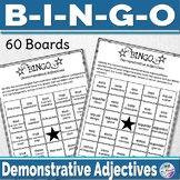 Spanish Demonstrative Adjectives Game - Spanish Game Bingo Bundle