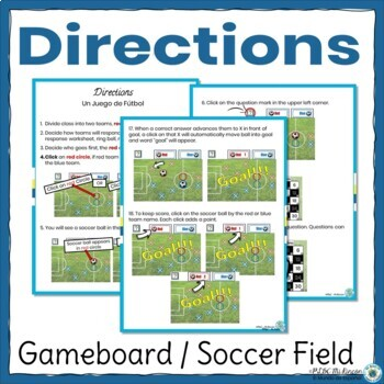 Spanish Demonstrative Adjectives Game  - Spanish Game and Worksheet Futbol