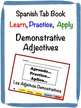 Spanish Demonstrative Adjectives Tab Book