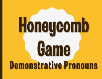 Spanish Demonstrative Pronoun Honeycomb Partner Game