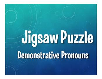 Spanish Demonstrative Pronoun Jigsaw Puzzle