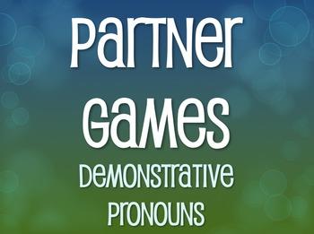 Spanish Demonstrative Pronoun Partner Games
