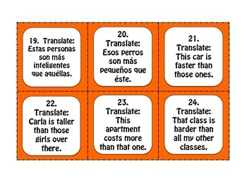 Spanish Demonstrative Pronoun Task Cards